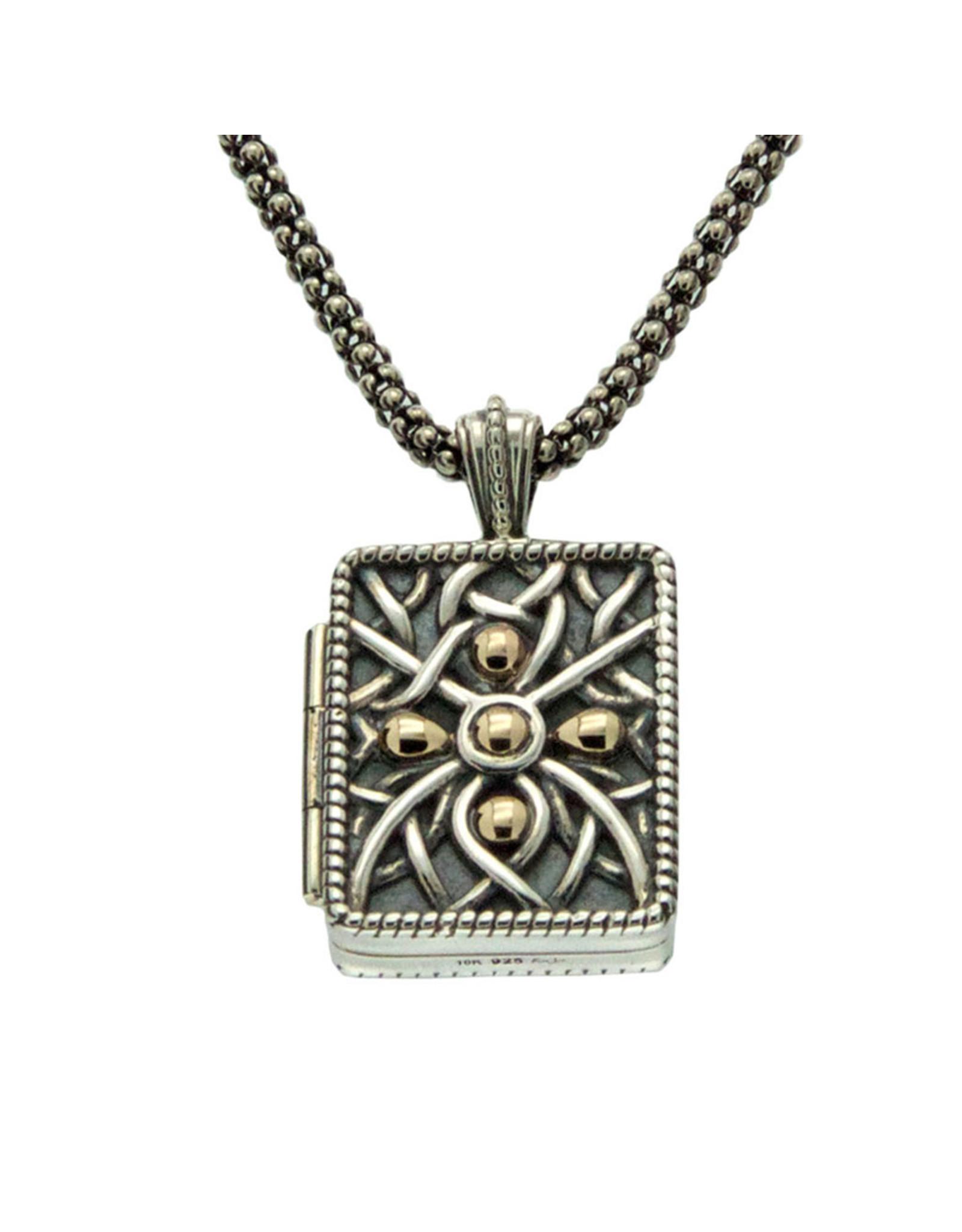 Keith Jack Oxidized Silver + Gold Unisex Locket