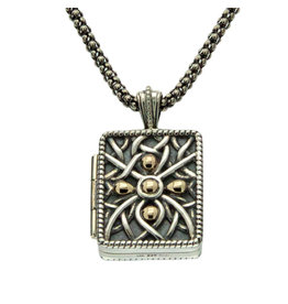 Keith Jack Oxidized Silver + Gold Unisex Locket