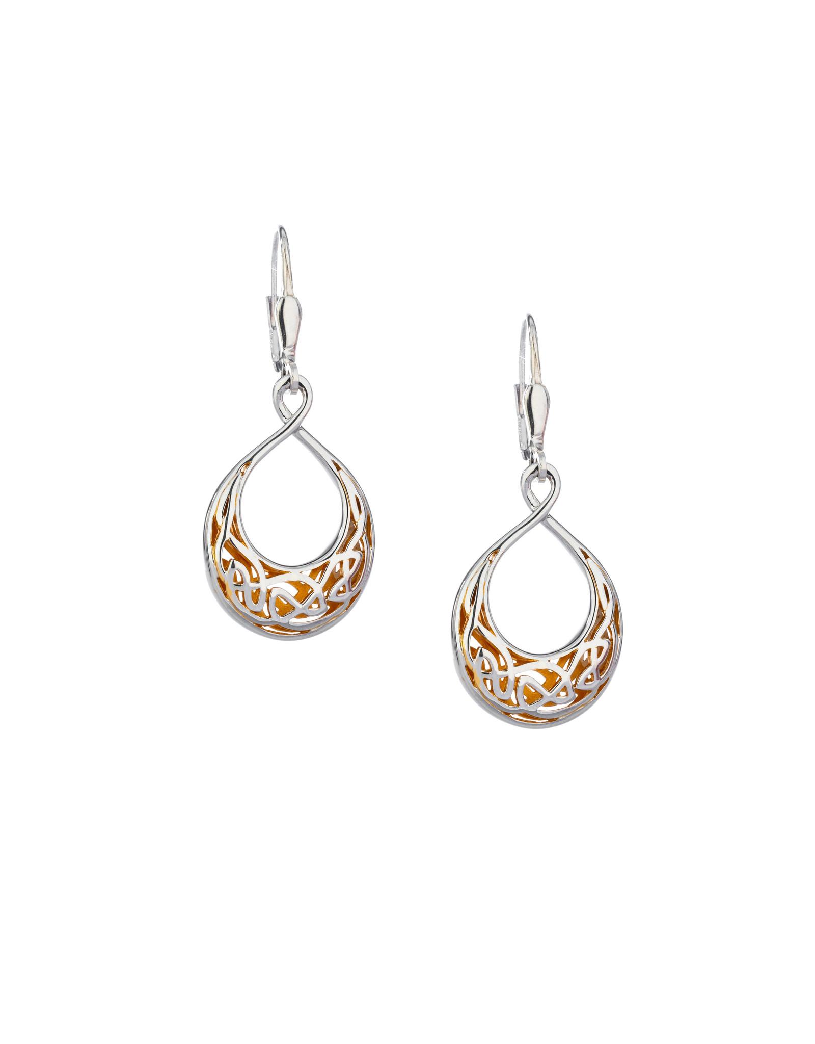 Keith Jack S/S + 22k Window Teardrop Earrings