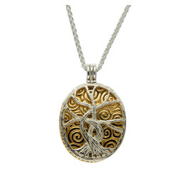 Keith Jack S/S + 22k Tree of LIfe 4-way Necklace
