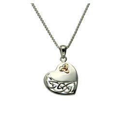 Keith Jack Sterling Silver+ 10k Heart Necklace