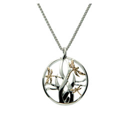 Keith Jack Sterling Silver + 10k Dragonfly Necklace