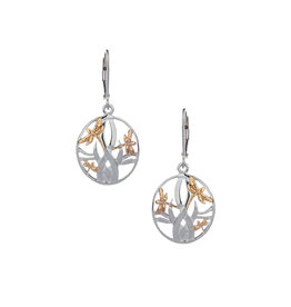Keith Jack Sterling Silver + 10k Dragonfly Earrings