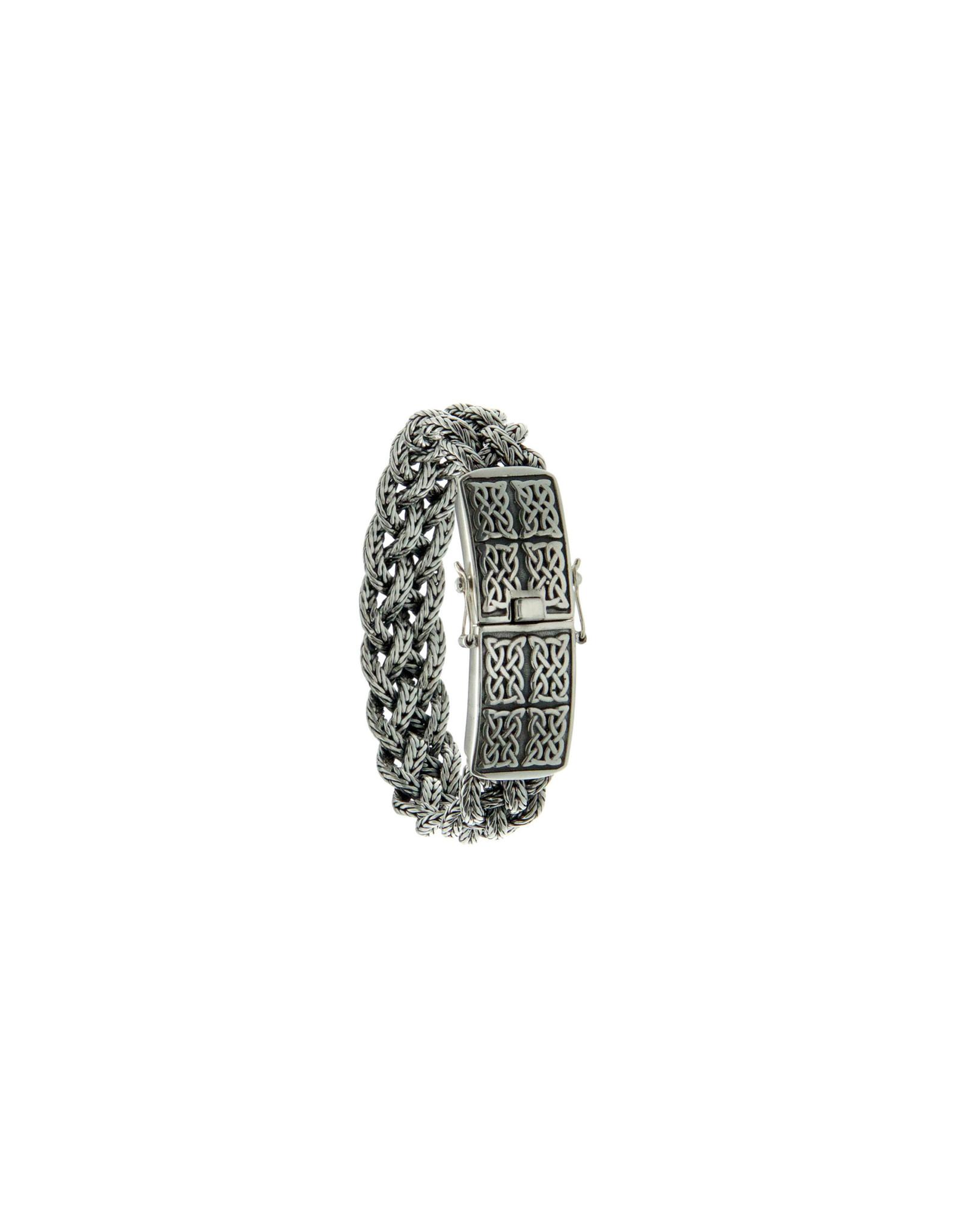 "Keith Jack Sterling Silver Norse Eternity Bracelet 8"""