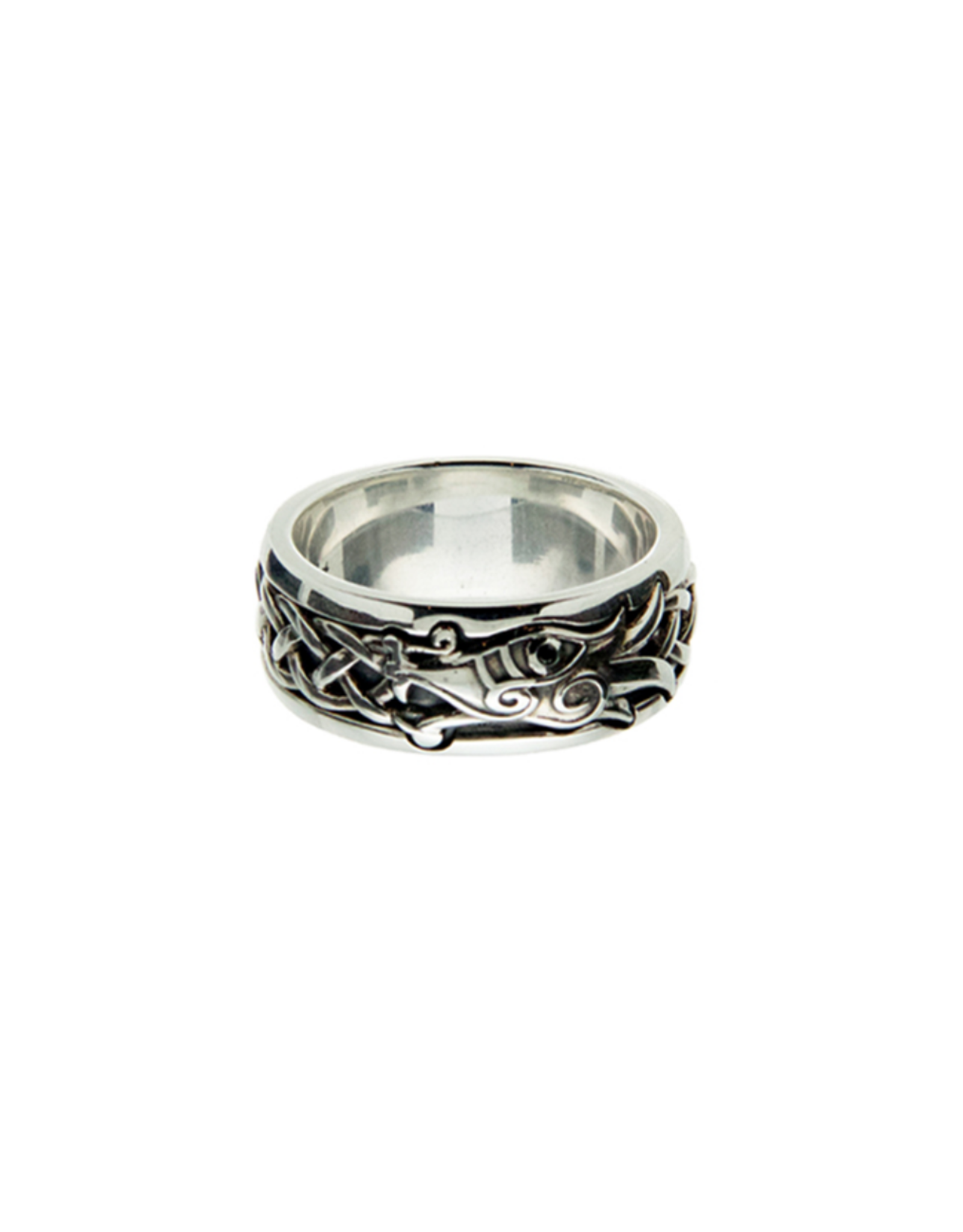 Keith Jack Silver + Black CZ Dragon Ring by Keith Jack