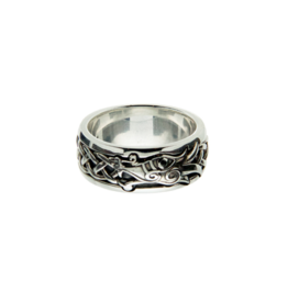 Keith Jack Silver + Black CZ Dragon Ring