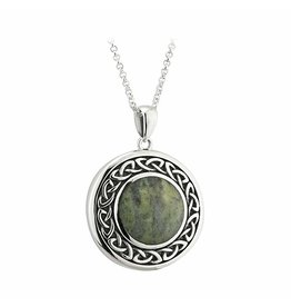 Solvar Round Connemara Marble Celtic Necklace