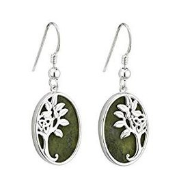 Solvar Connemara Marble Tree of Life Earrings