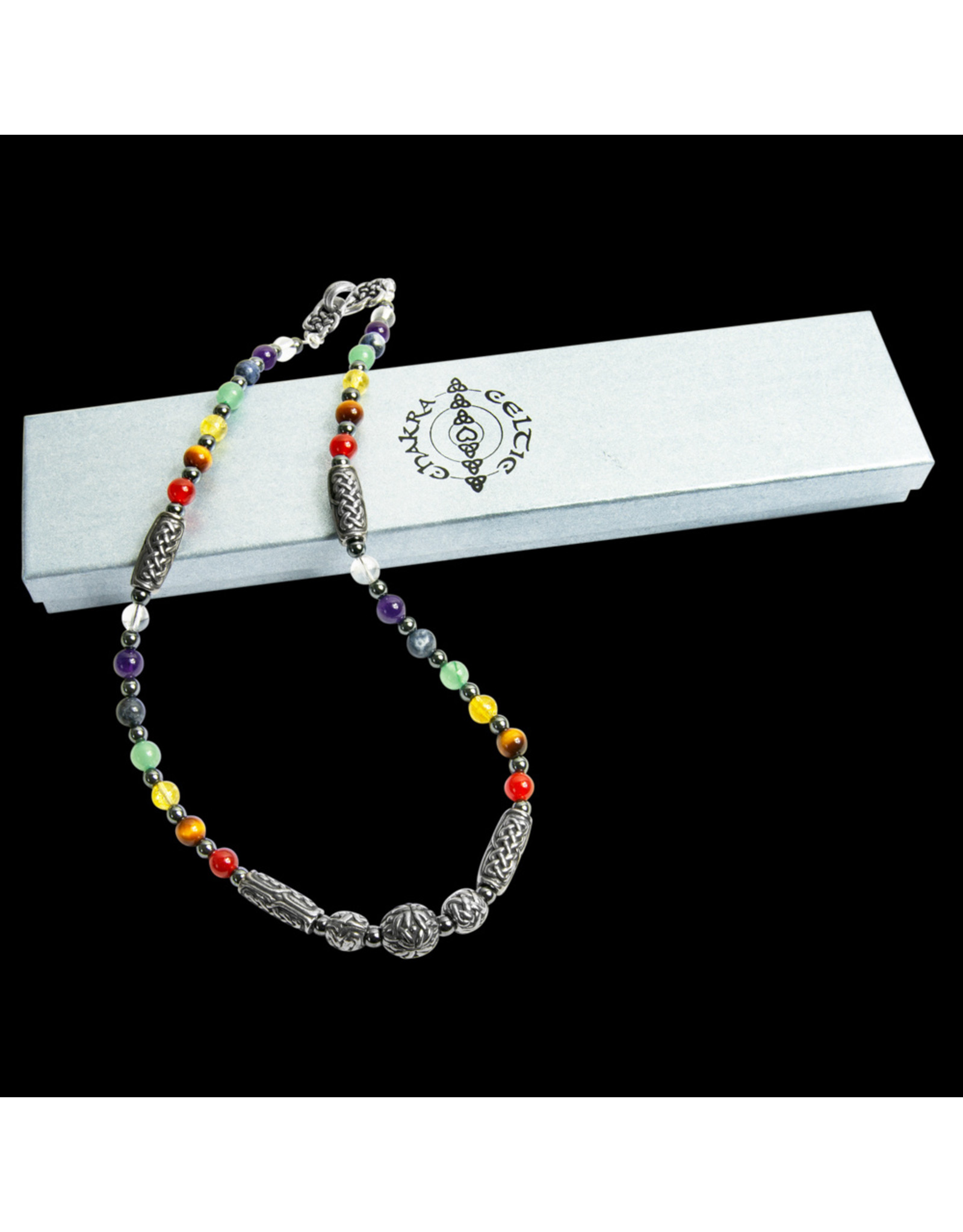 Beady Celtic Jewelry Boxed Beady Celtic Chakra Necklace
