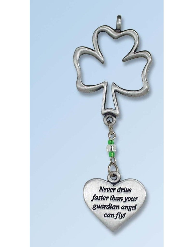 Cathedral Art Shamrock Car Charm