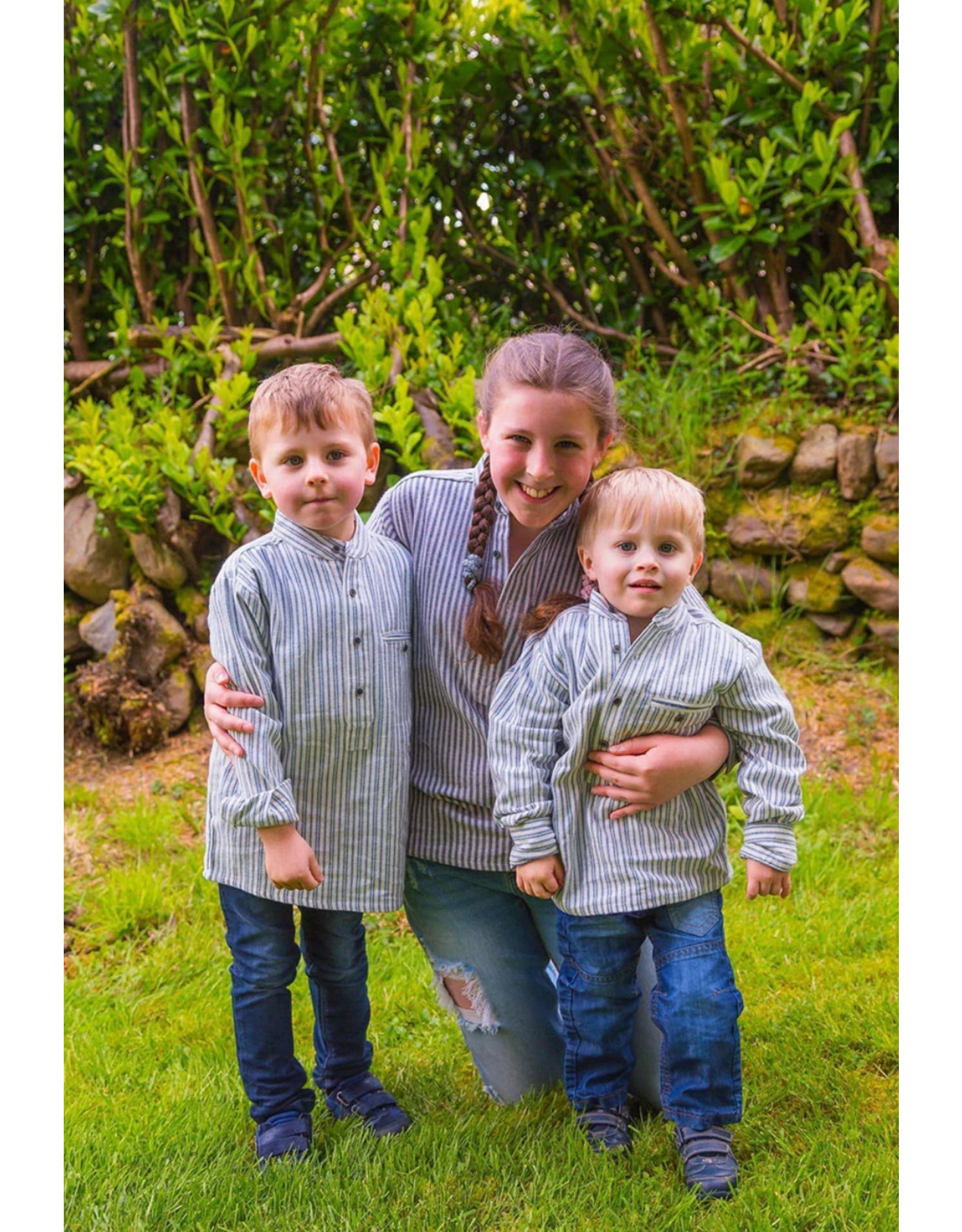 Lee Valley Ireland Kids Soft Flannel Grandfather Shirt