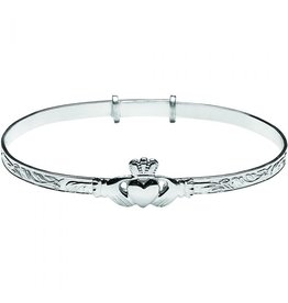 Boru Jewelry Silver Ladies Claddagh Bracelet