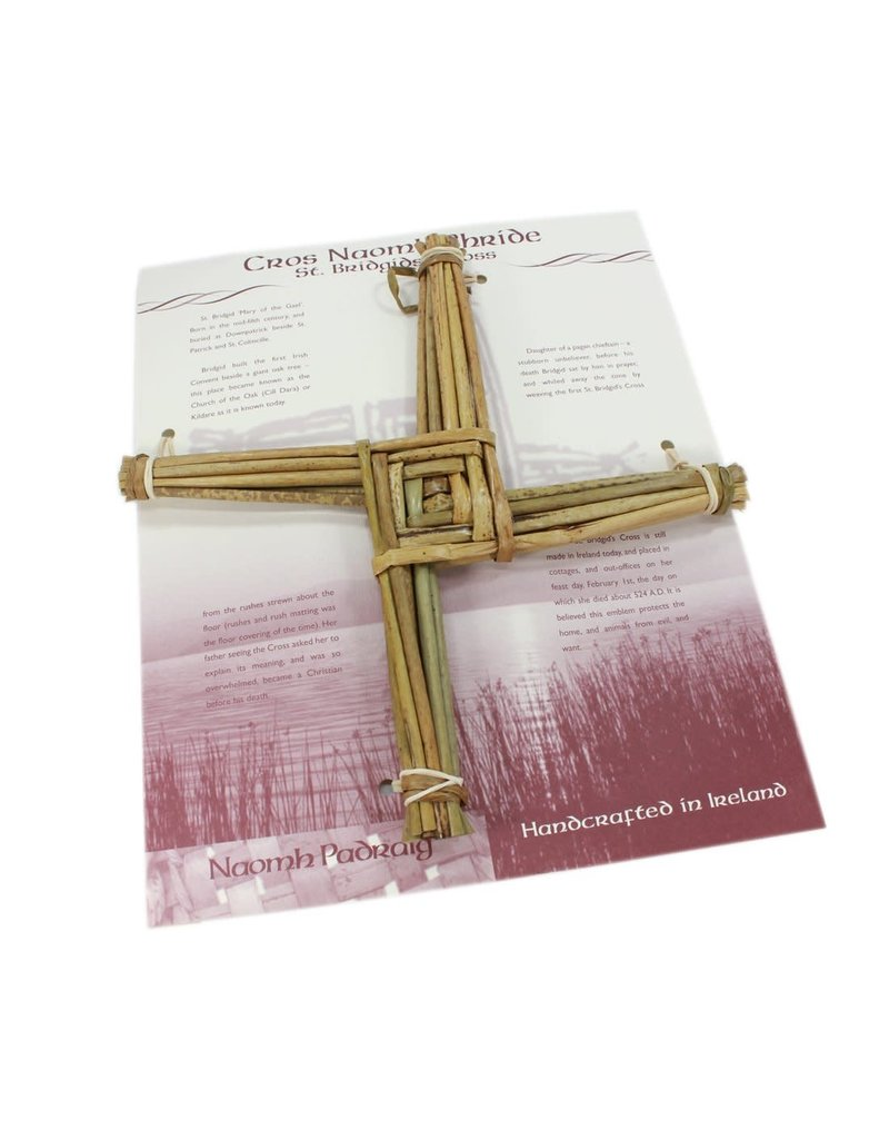 Naomb Padraig Handcrafts St Brigid Cross on Large Card  10""