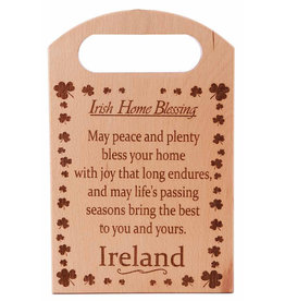 The Irish Connection Wood Chopping Block with Home Blessing