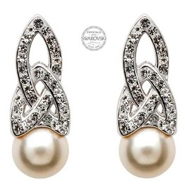 Shanore Swarovski Trinity Pearl Earrings