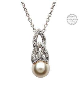 Shanore Swarovski Trinity Pearl Necklace