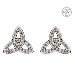 Shanore Trinity Knot Stud Swarovski Earrings