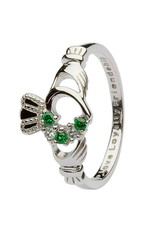 Shanore Claddagh Ring Stone Set Heart