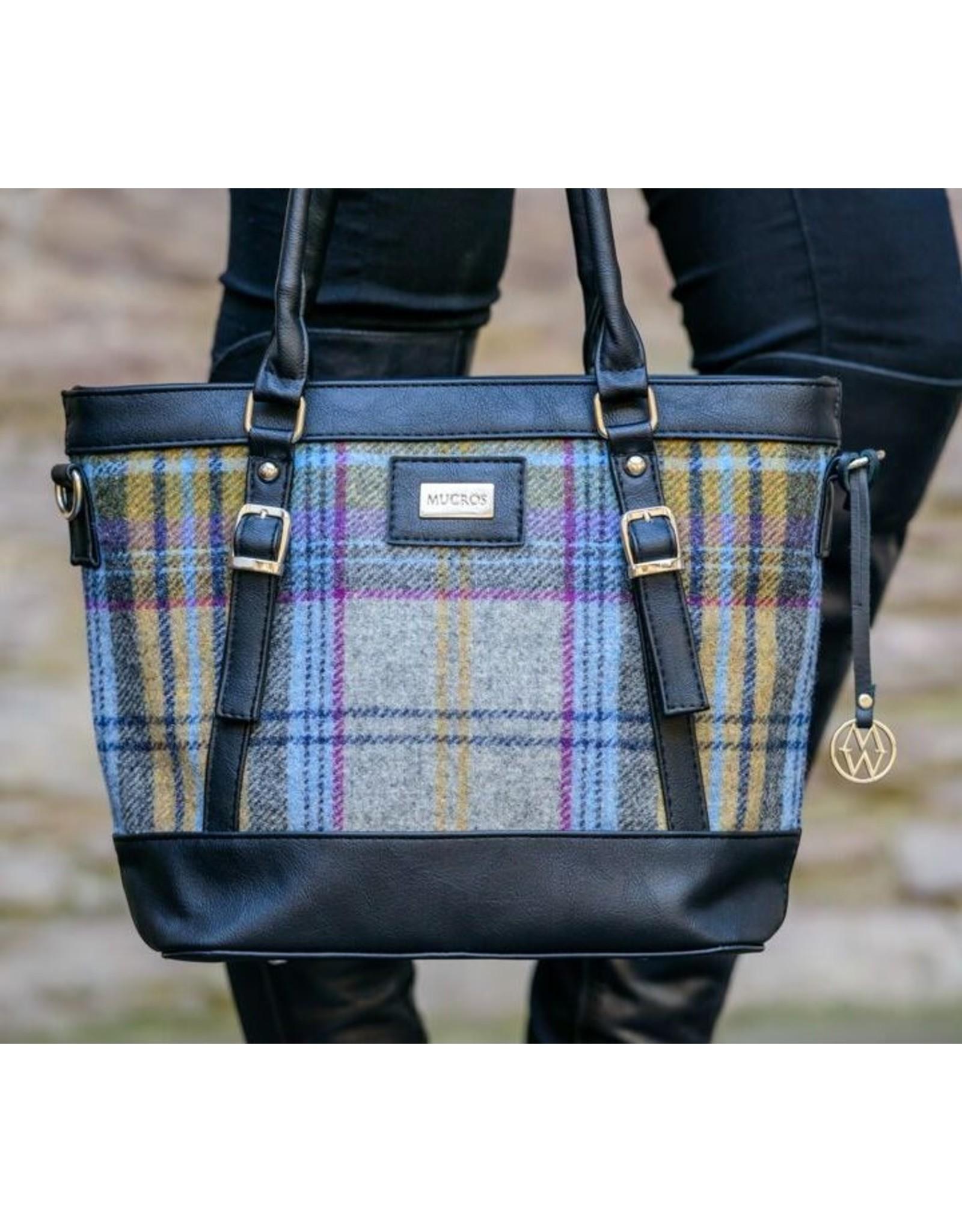 Mucros Kelly Tartan + Leather Bag