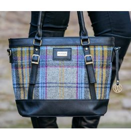 Mucros Kelly Tartan + Leather Bag