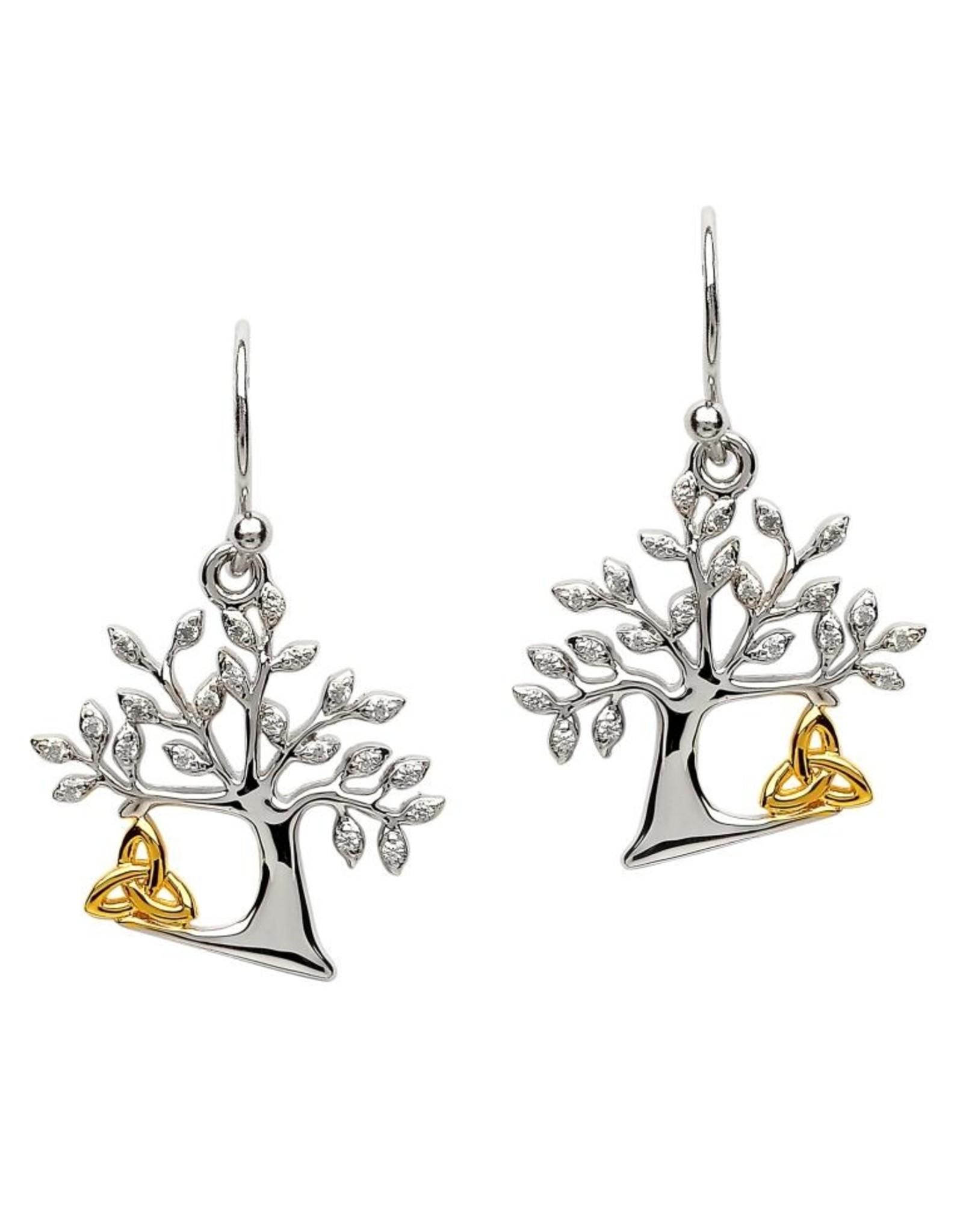 Shanore Tree Of Life Trinity Earrings