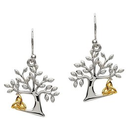 Shanore Tree Of Life Trinity Earrings