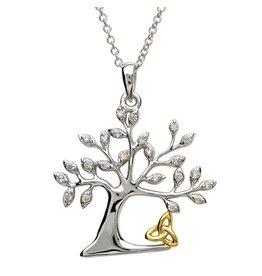Shanore Tree Of Life Trinity Necklace