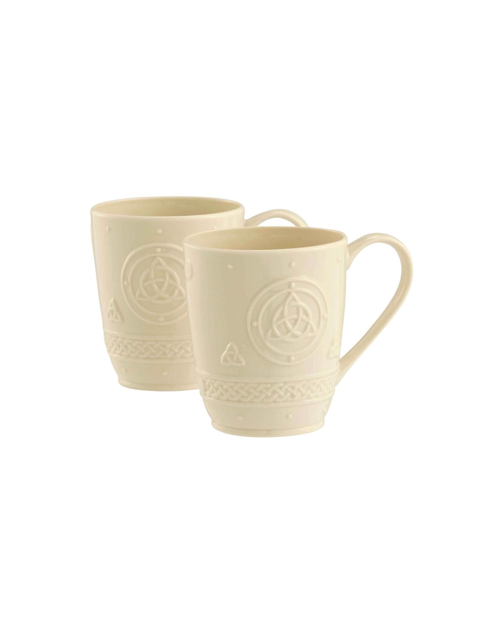 Belleek Belleek Celtic 10 oz Mugs Set of 2