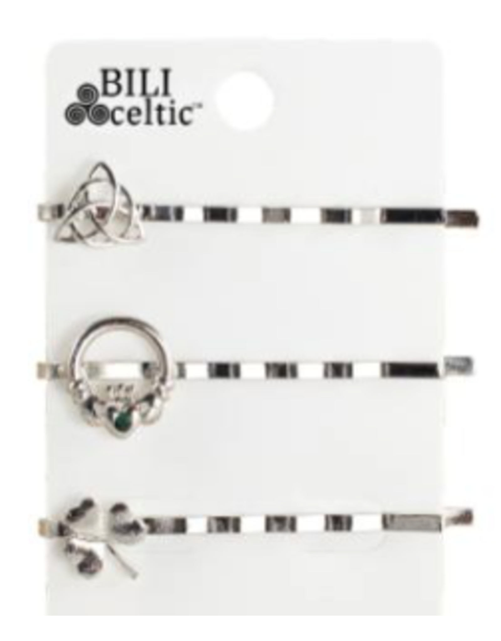 Because I Like It Celtic Hair Pins: Silver