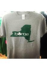 Coastal Tees Shamrock NY Home Grey T-Shirt