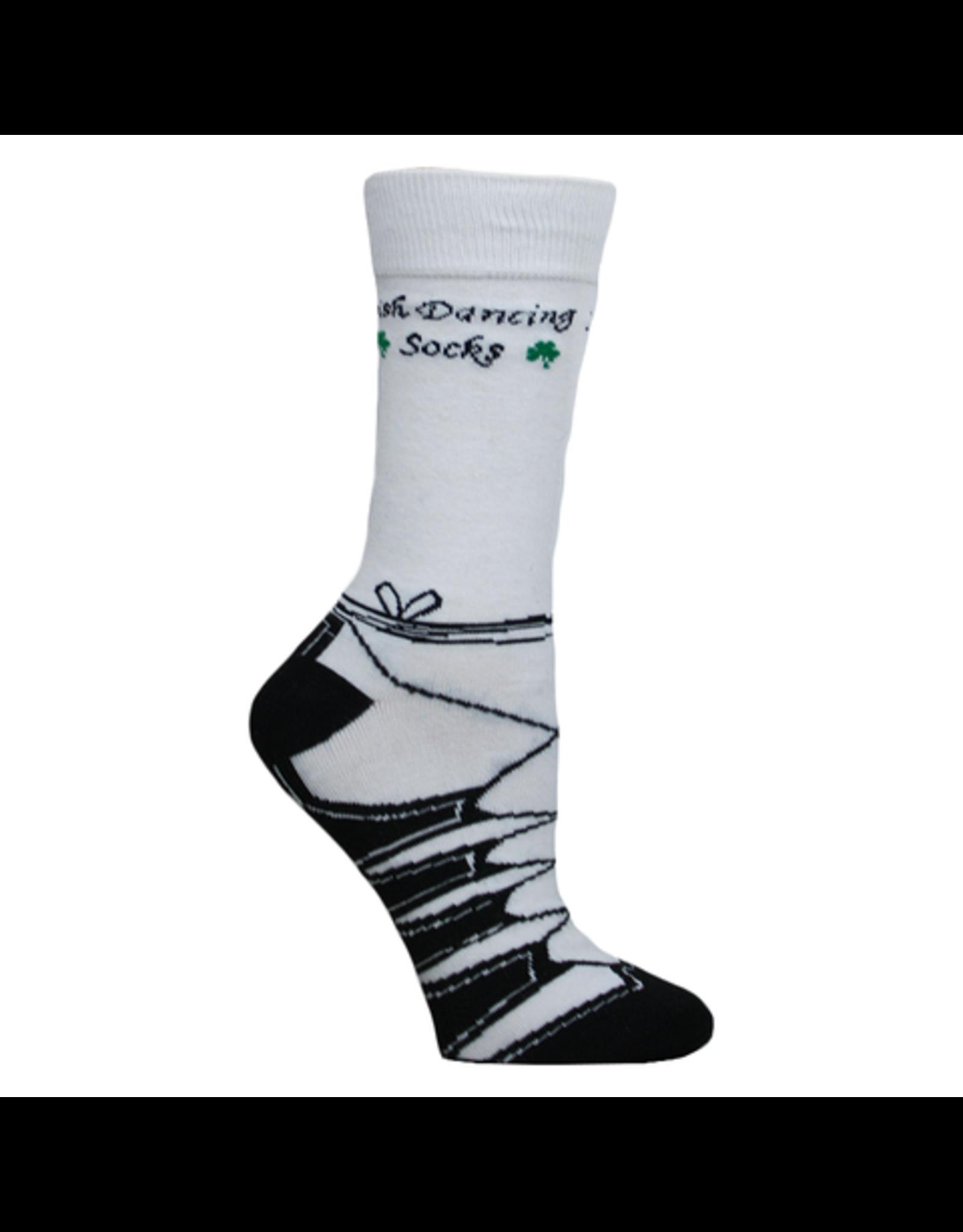 Liffey Artefacts White Irish Dancing Socks