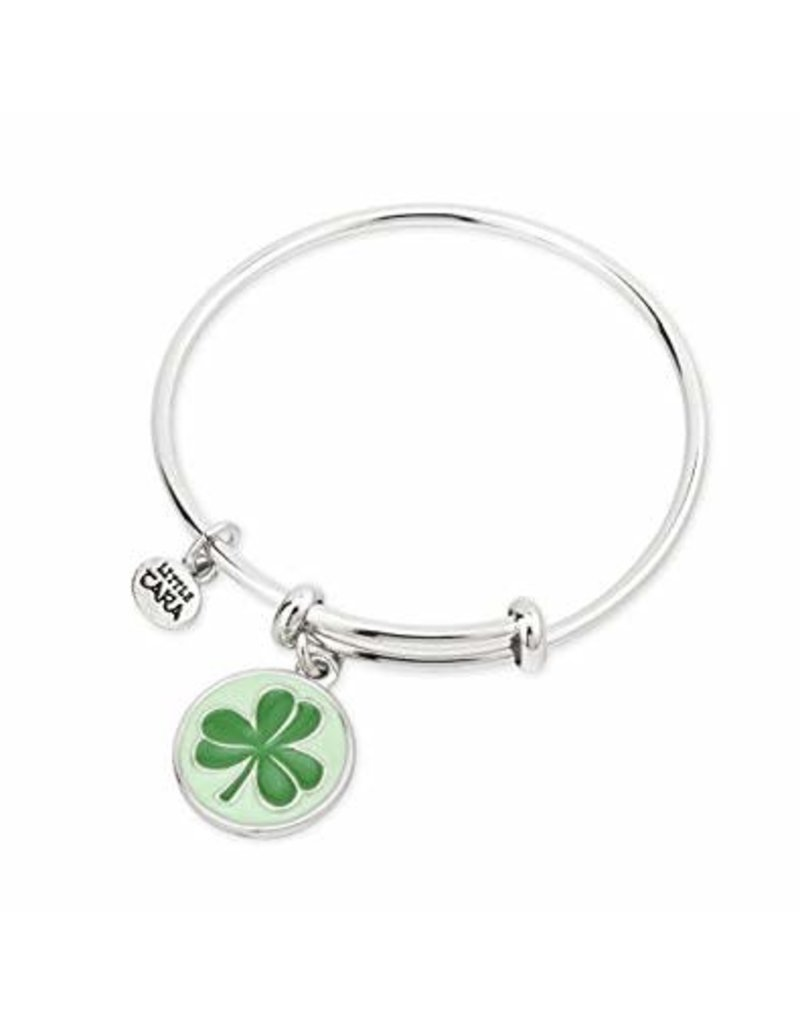 Tara Kids Bangle Bracelet with Shamrock