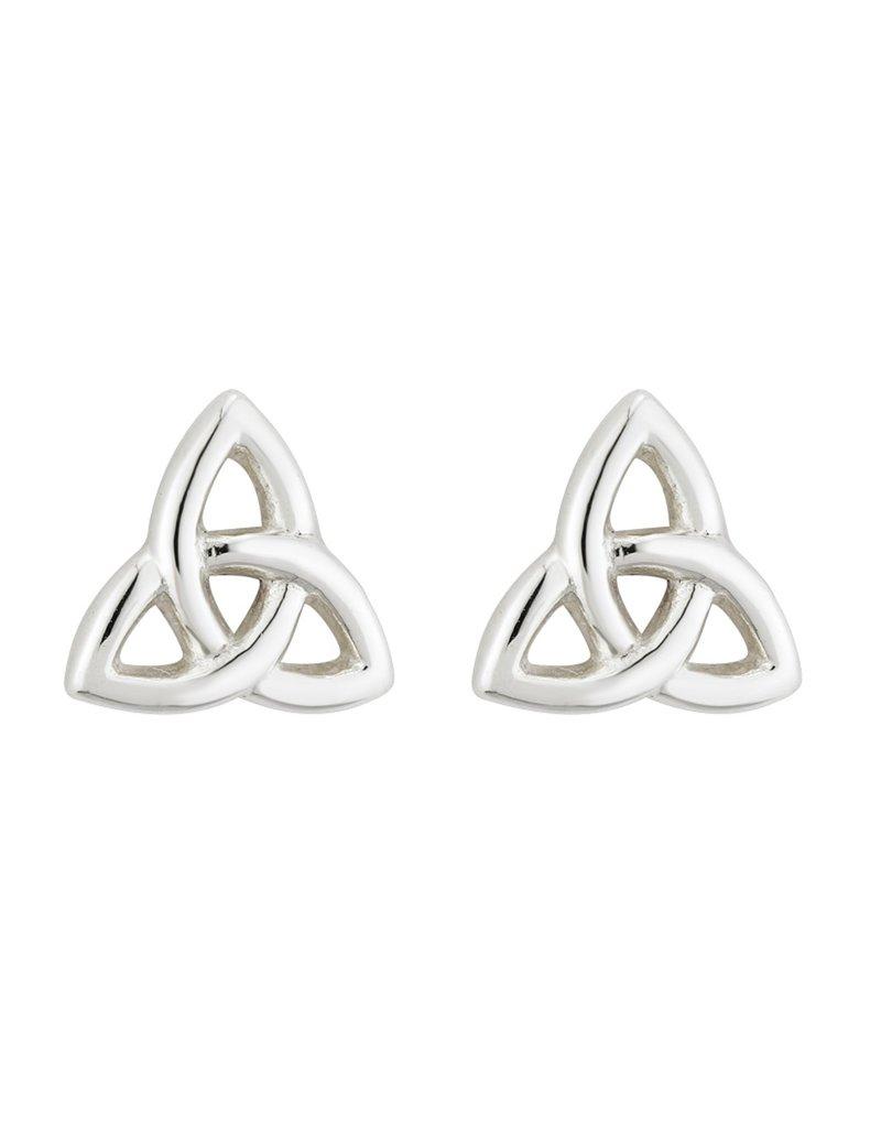 Solvar Sterling Silver Trinity Knot Stud
