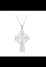 Solvar Sterling Silver Double-sided Celtic Cross