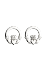 Solvar Sterling Silver Claddagh Stud Earrings