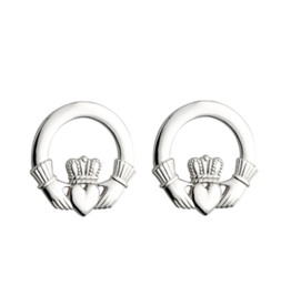 Solvar Sterling Silver Claddagh Stud Earrings
