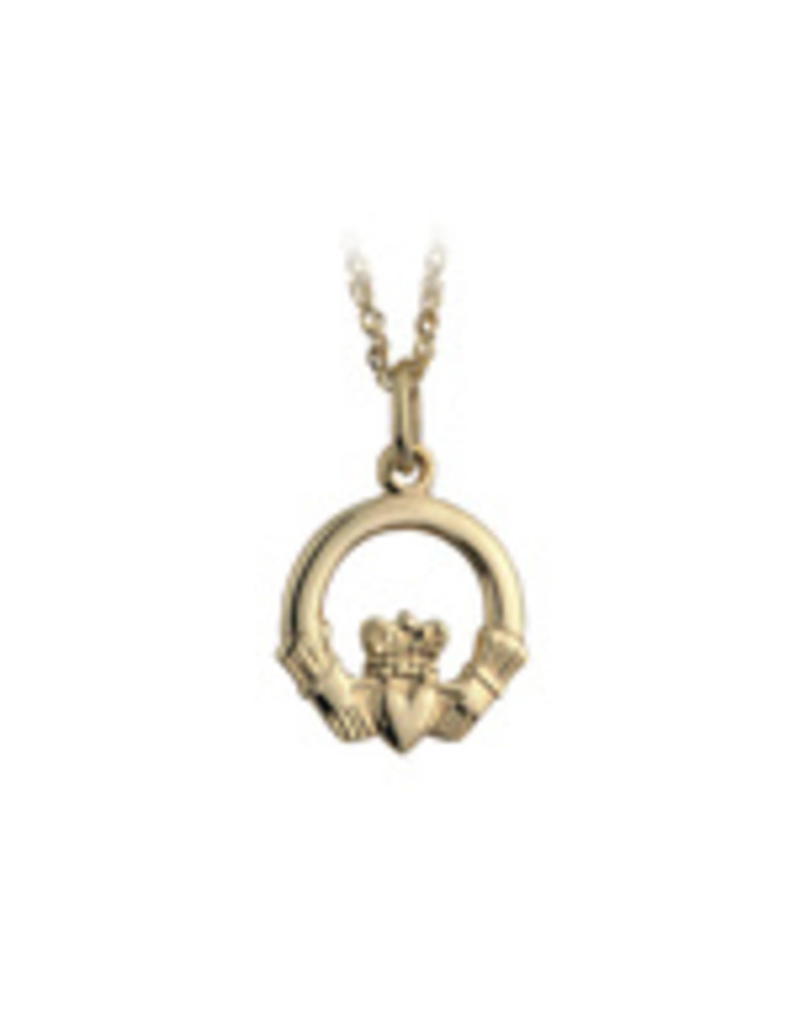 Solvar 10k Gold Claddagh Necklace