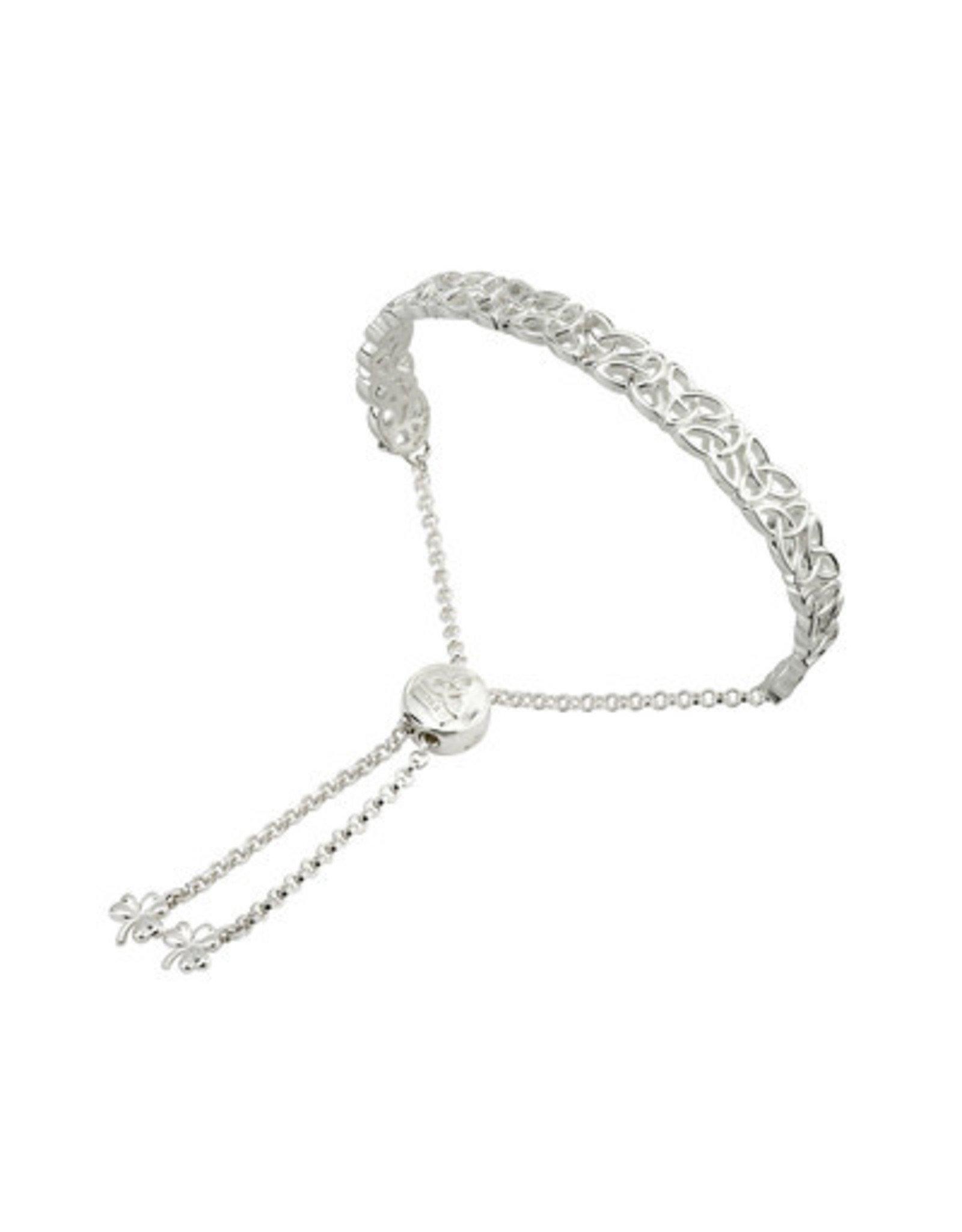 Solvar Sterling Silver Draw String Trinity Knot bangle
