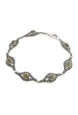 Solvar Sterling Silver Marble & Marcasite Bracelet