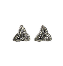Solvar Marcasite Trinity Knot Earrings