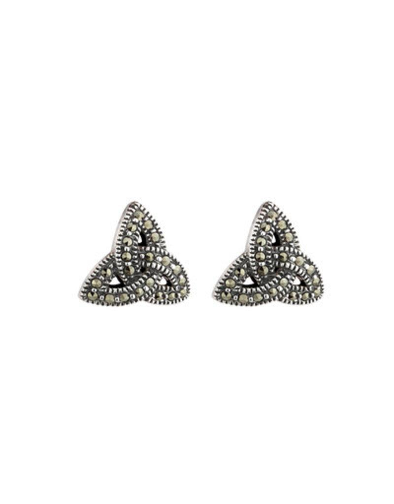 Solvar Marcasite Trinity Knot Earrings