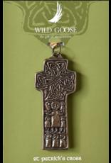 Wild Goose Studios Hand-cast Bronze Ornament: St. Patrick's Cross