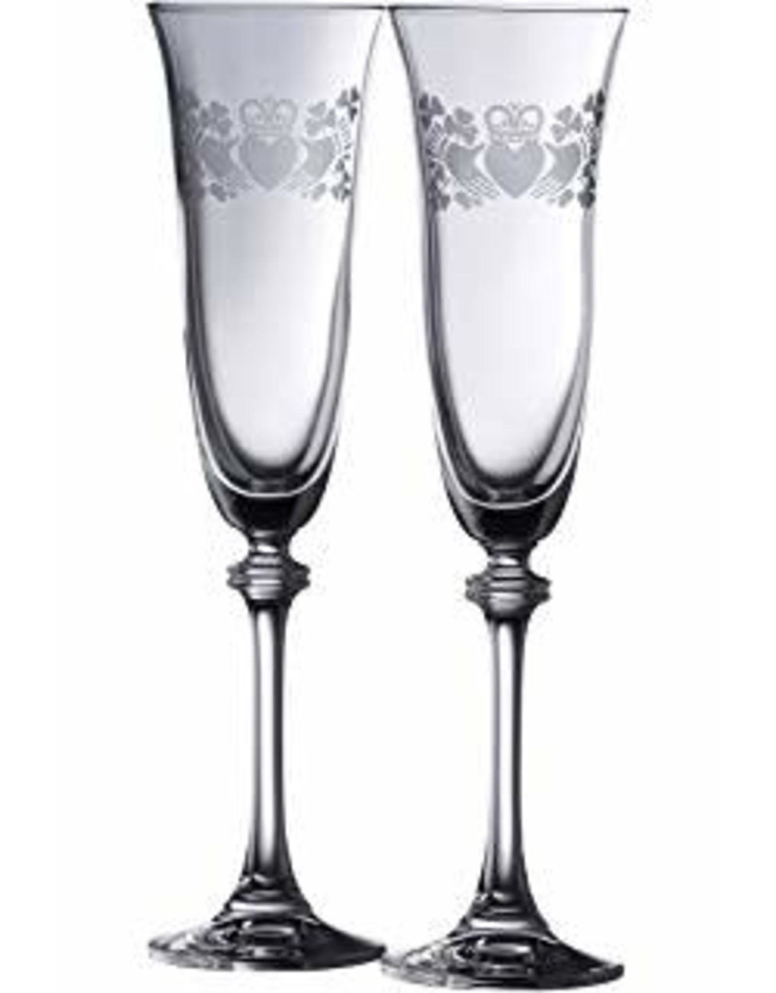 Galway Crystal Claddagh Liberty Flute Pair by Galway Crystal