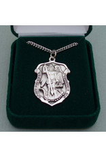 Robert Emmet Company Sterling Silver St Michael Shield - Heavy