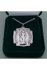 Robert Emmet Company Sterling Silver Fireman Badge St. Florian Medal