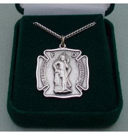 Robert Emmet Company Fireman Badge St. Florian Medal