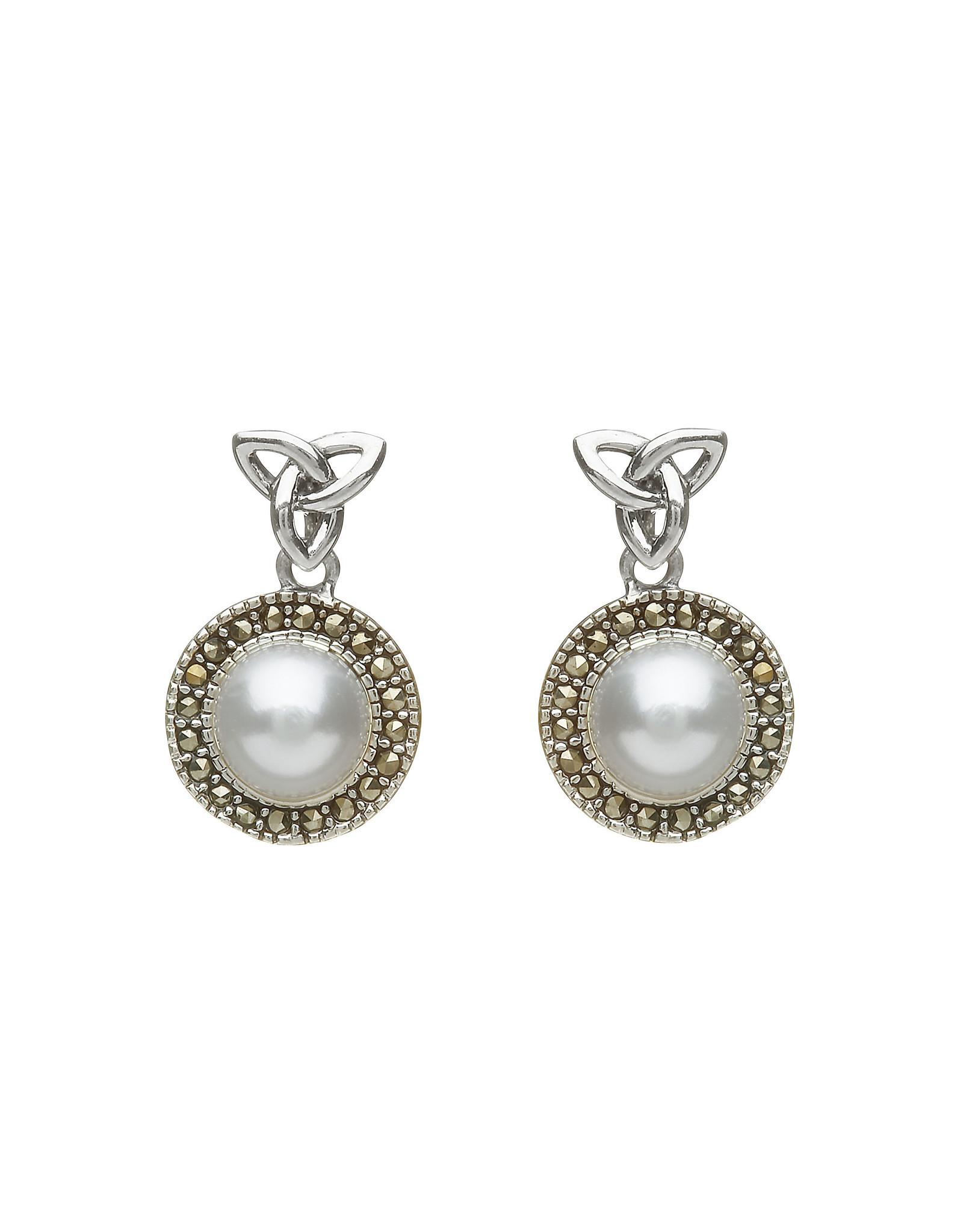 Anu Trinity + Fresh Water Pearl Drop Earring