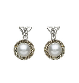 Anu Trinity + Fresh Water Pearl Drop Earring