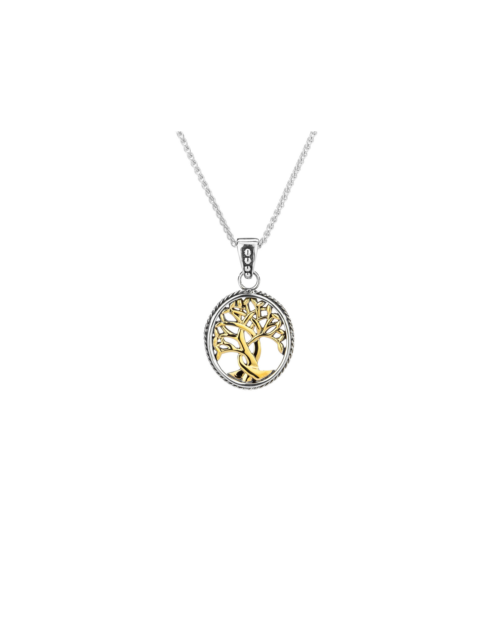Keith Jack Silver + 10k Tree of Life Necklace