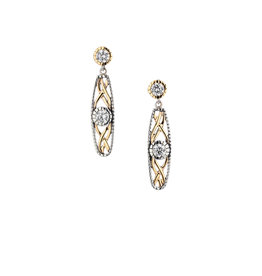 Keith Jack Silver + 10k Brave Heart Earrings